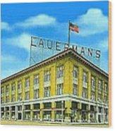 Lauerman's Department Store In Marinette Wi In 1910 Wood Print