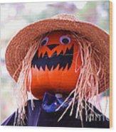 Laughing Pumpkin Wood Print