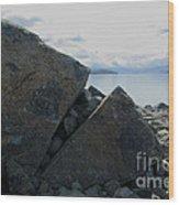 Laughing Rock On Lake Tekapo Foreshore.o Wood Print