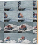 Launching The Lifeboat Wood Print