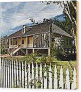 Laura Creole Plantation Wood Print