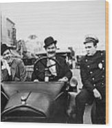 Laurel And Hardy, 1928 Wood Print