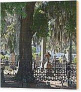 Laurel Grove Cemetery - Savannah Georgia Wood Print by Randy Edwards