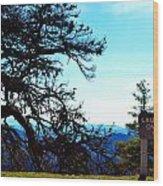 Laurel Knob Overlook Wood Print