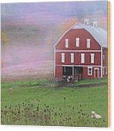 Laurel Mountains Barn Wood Print