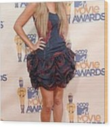 Lauren Conrad Wearing A Moschino Dress Wood Print