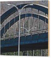 Laurentian Bridge Wood Print