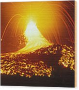 Lava Flow And Vent Wood Print by Dr Juerg Alean