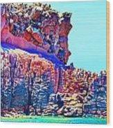 Lava Island Wood Print