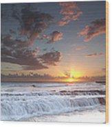 Lava Shelf Waterfall Wood Print