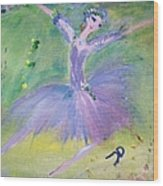 Lavender Ballerina Wood Print