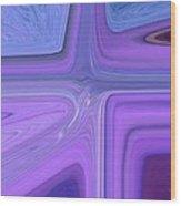 Lavender Bend Wood Print