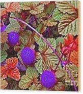 Lavender Berry Wood Print
