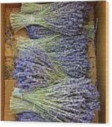 Lavender Bundles Wood Print