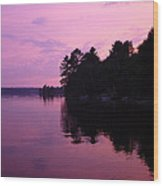 Lavender Lake Wood Print