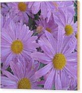 Lavender Mum Bouquets Wood Print