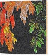 Lavish Leaves 5 Wood Print
