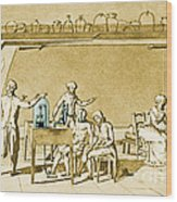 Lavoisier Experimenting Wood Print