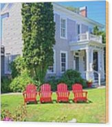 Lawn Chairs Wood Print
