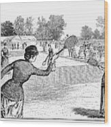 Lawn Tennis, 1883 Wood Print