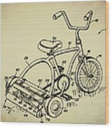 Lawnmower Tricycle Patent Wood Print