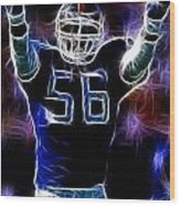 Lawrence Taylor  Wood Print by Paul Ward