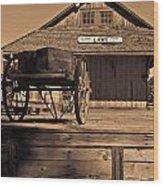 Laws Ca Historic Depot Wood Print
