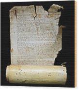 Lawsuit Of The Cathedral Chapter Of Calahorra. Pleito Del Cabildo Catedralicio De Calahorra Wood Print
