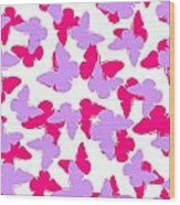 Layered Butterflies  Wood Print