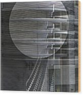 Layers Of Gray Metal Geometric Architecture Wood Print