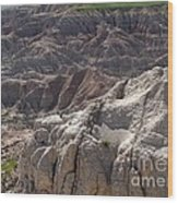 Layers Of Rock In The Badlands Wood Print