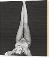 Laying Female Nude Wood Print