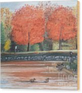Lazy Day At Penitentiary Glen Wood Print