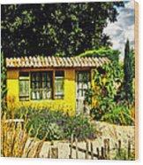 Le Jardin De Vincent Wood Print by Chris Thaxter
