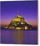 Le Mont Saint-michel, Normandy, France Wood Print