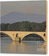 Le Pont Benezet.avignon. Provence. Wood Print by Bernard Jaubert