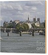 Le Pont Des Arts. Paris. France Wood Print by Bernard Jaubert