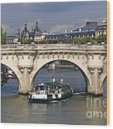 Le Pont Neuf . Paris. Wood Print