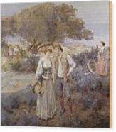 Le Retour De Cythere Wood Print by William Lee