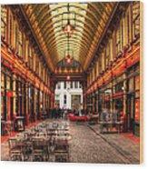 Leadenhall Market Interior Wood Print