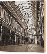 Leadenhall Market London With  Wood Print