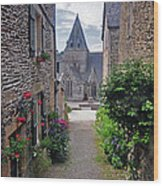Leading To The Church Provence France Wood Print