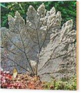 Leaf Art Wood Print