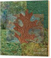 Leaf Life 01 - Green 01b2 Wood Print