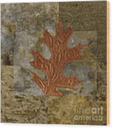 Leaf Life 01 -brown 01b2 Wood Print by Variance Collections