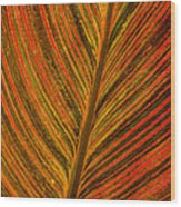 Leaf Pattern Abstract Wood Print