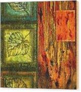 Leaf Whisper 3 Wood Print