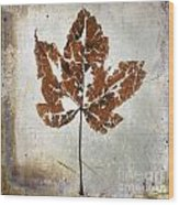 Leaf  With Textured Effect Wood Print