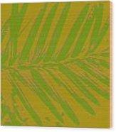 Leafy Art I Wood Print