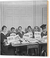 League Of Women Voters Wood Print